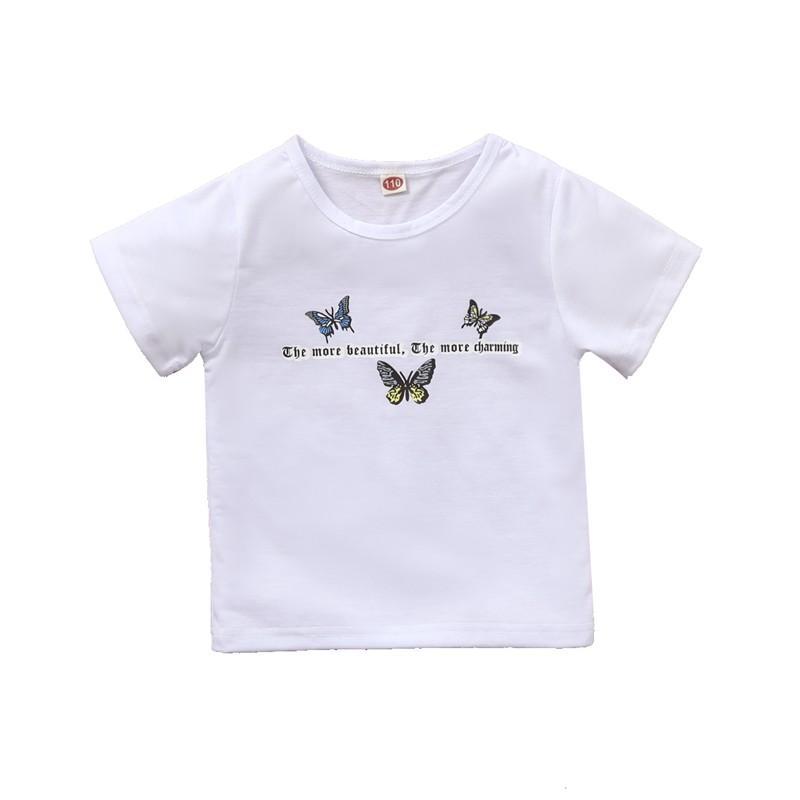 Butterfly Pattern T-shirt for Toddler Girl