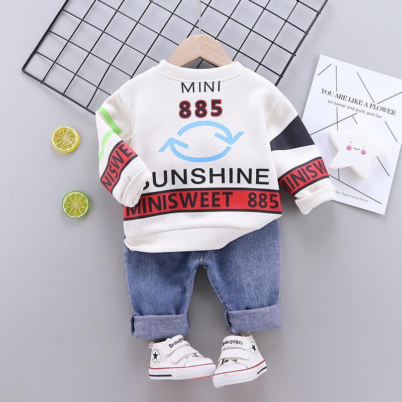 2-piece Sweatshirt & Jeans for Toddler Boy