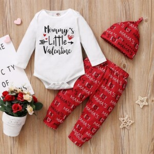 3-piece Romper & Hat & Pants for Baby Girl