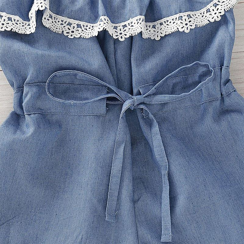 2-piece Headband & Overalls for Toddler Girl