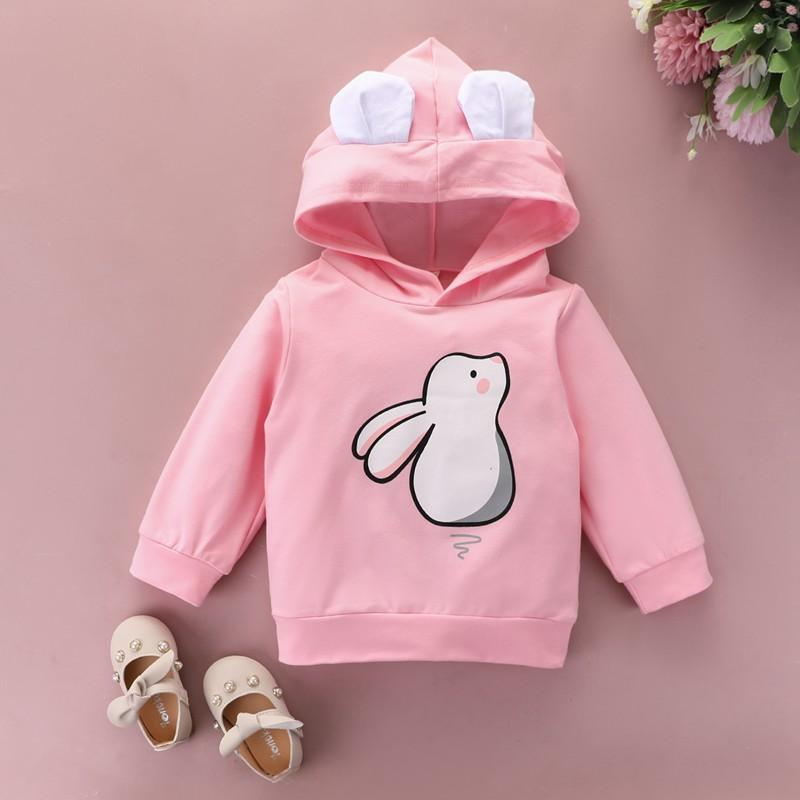 Rabbit Pattern Hoodie for Toddler Girl