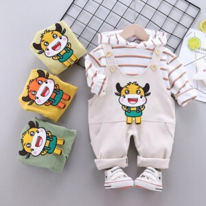 2-piece Hoodie & Bib Pants for Toddler Boy