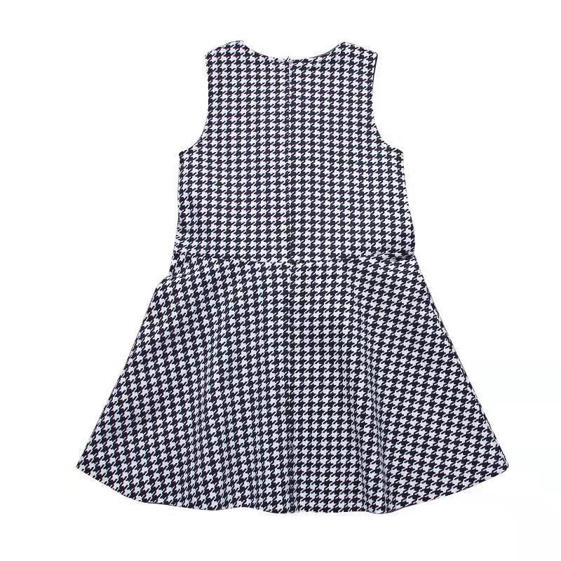 Sleeveless Houndstooth Dress for Girl