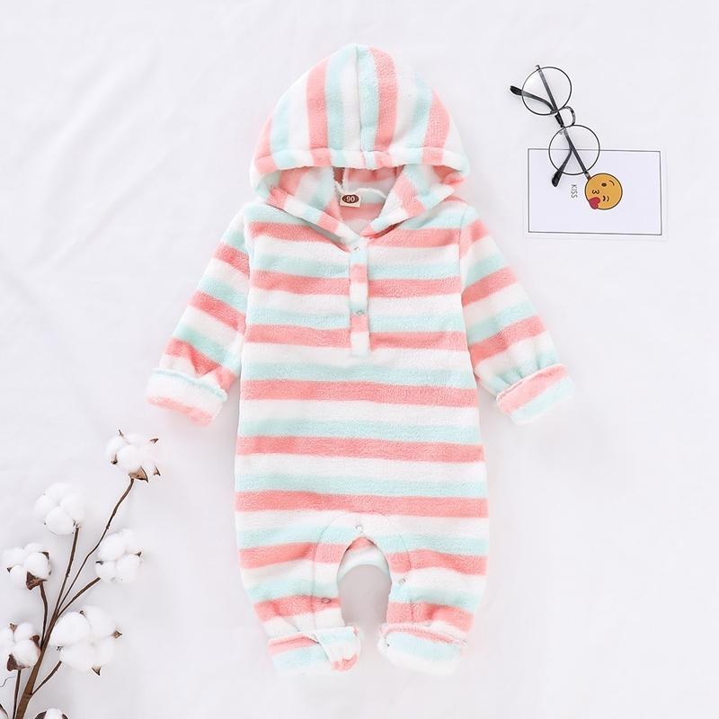 Striped Hooded Jumpsuit for Baby