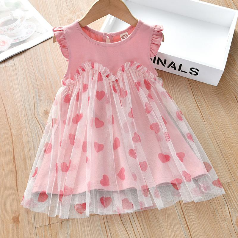 Sleeveless Mesh Princess Dress for Toddler Girl
