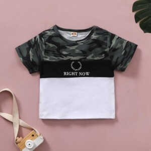 Camouflage T-shirt for Toddler Boy