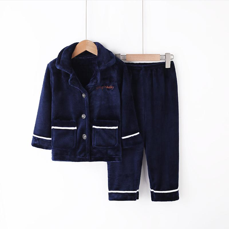 2-piece Winter Thick Pajamas Sets for Toddler Boy