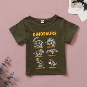 Dinosaur Pattern T-shirt for Toddler Boy