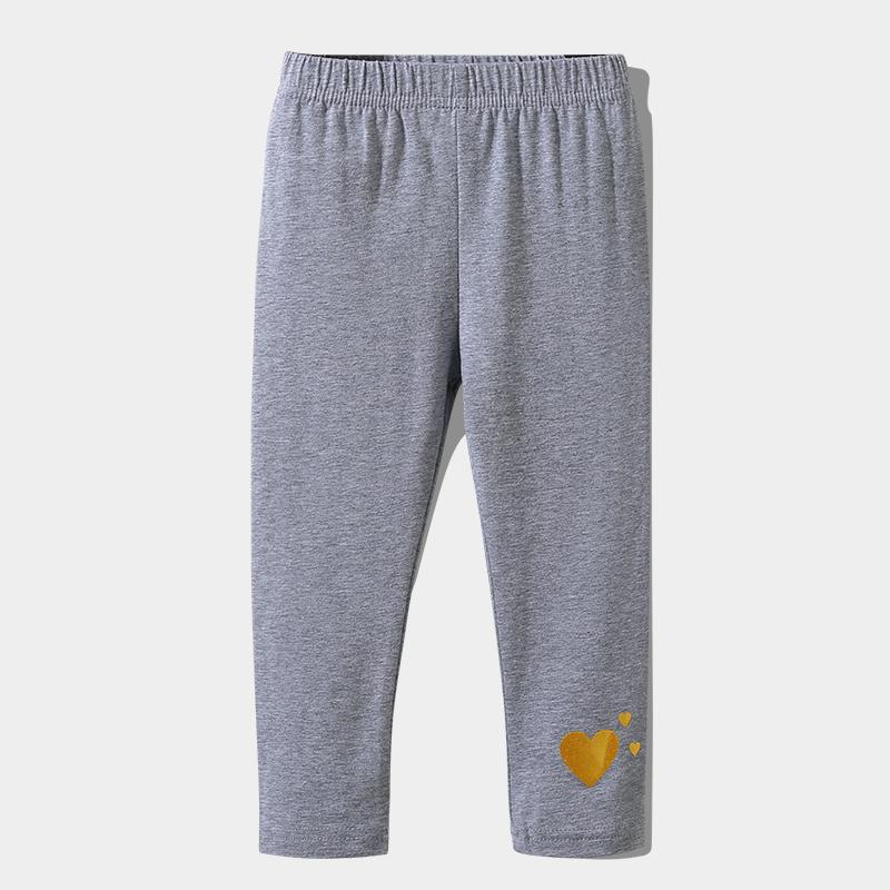 Heart-shaped Pattern Boot Pants for Toddler Girl