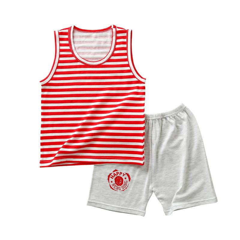 2-piece Striped Vest & Shorts for Toddler Boy