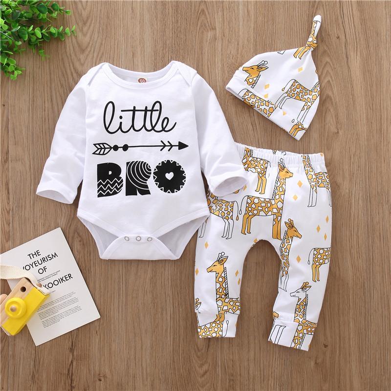 3-piece Romper & Hat & Pants for Baby Boy
