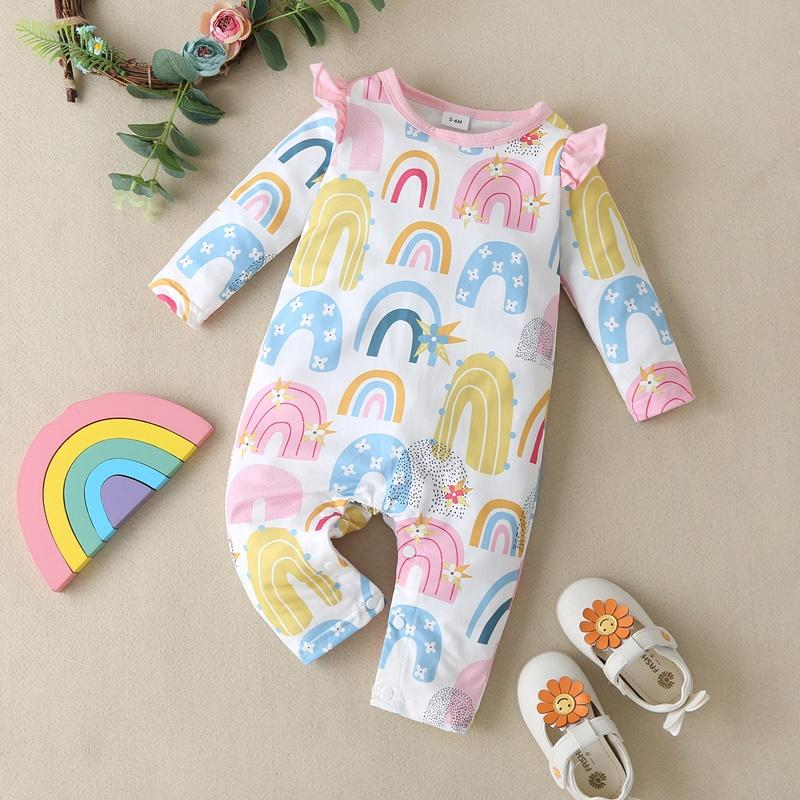 Rainbow Pattern Jumpsuit for Baby Girl
