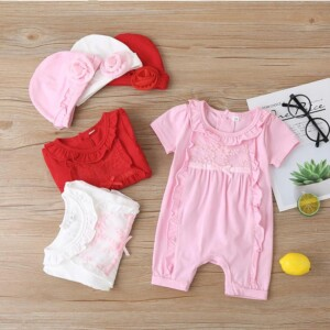 2-piece Bodysuit & Hat for Baby Girl