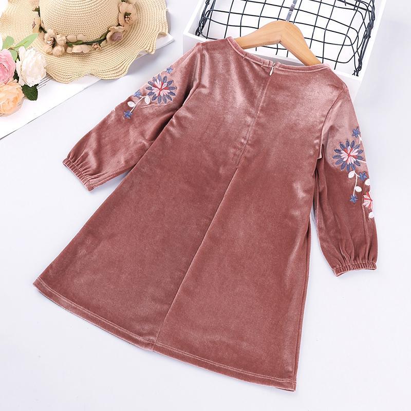 Velvet Dress for Toddler Girl