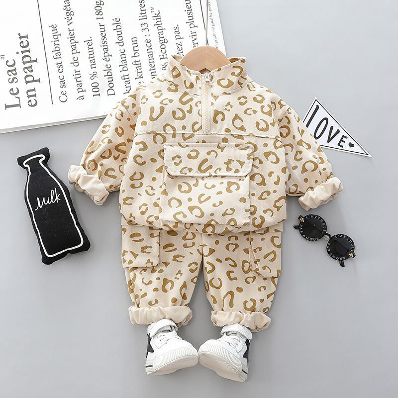 2-piece Leopard Sweatshirt & Pants for Toddler Girl