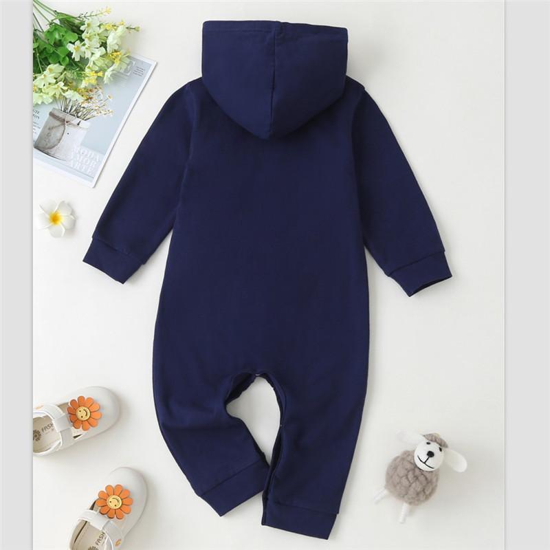 Baby Girl Sweet Hooded Long Sleeve Jumpsuit