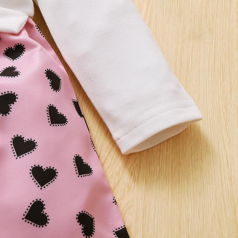 Heart-shaped Pattern Dress for Baby Girl