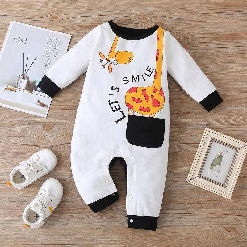 Giraffe Pattern Jumpsuit for Baby