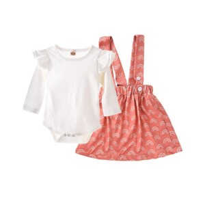2-piece Romper & Strap Dress for Baby Girl
