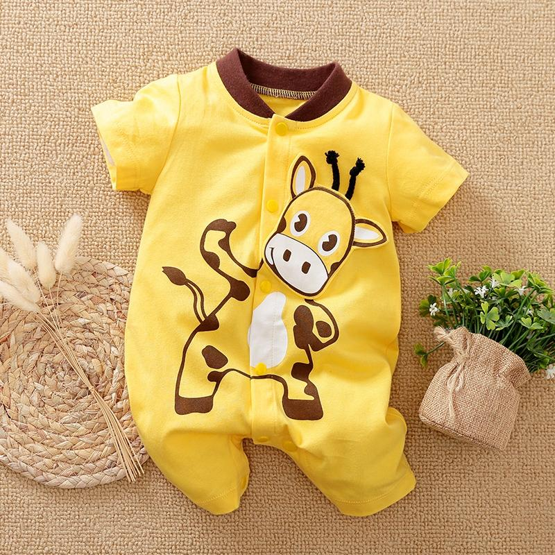 Giraffe Pattern Jumpsuit for Baby Boy