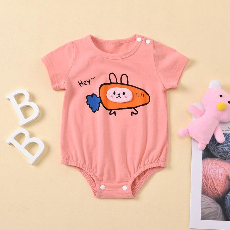 Rabbit Pattern Bodysuit for Baby Girl