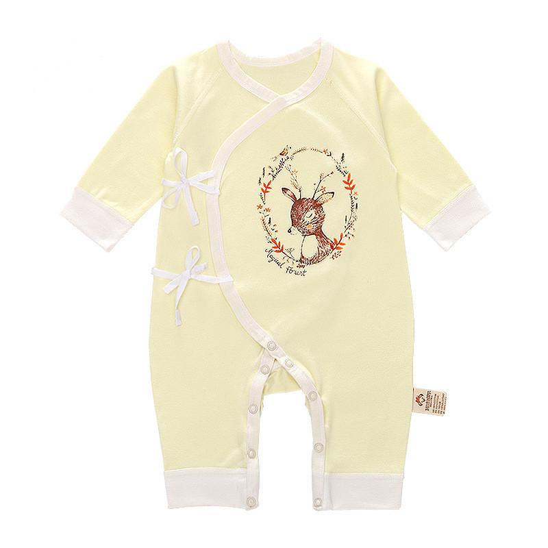Deer Pattern Bodysuit for Baby Girl