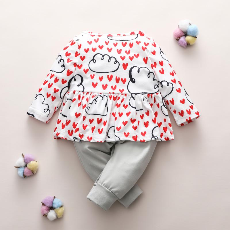 Clouds Pattern Jumpsuit for Baby Girl