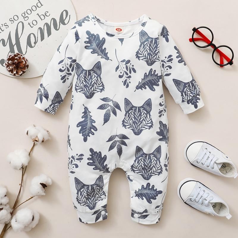 Leaf Printing Jumpsuit for Baby