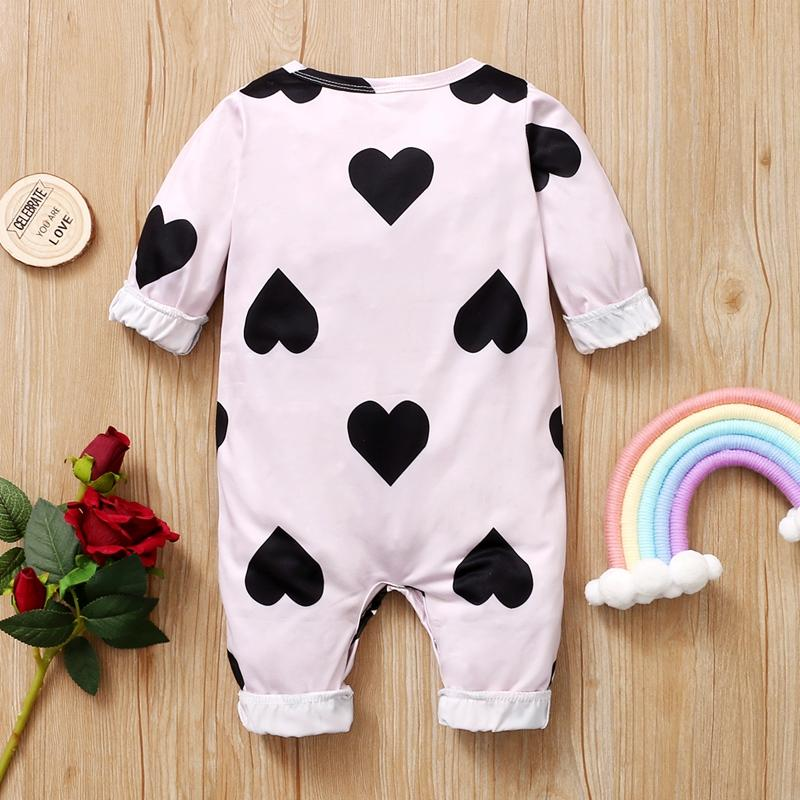 Heart-shaped Pattern Jumpsuit for Baby Girl