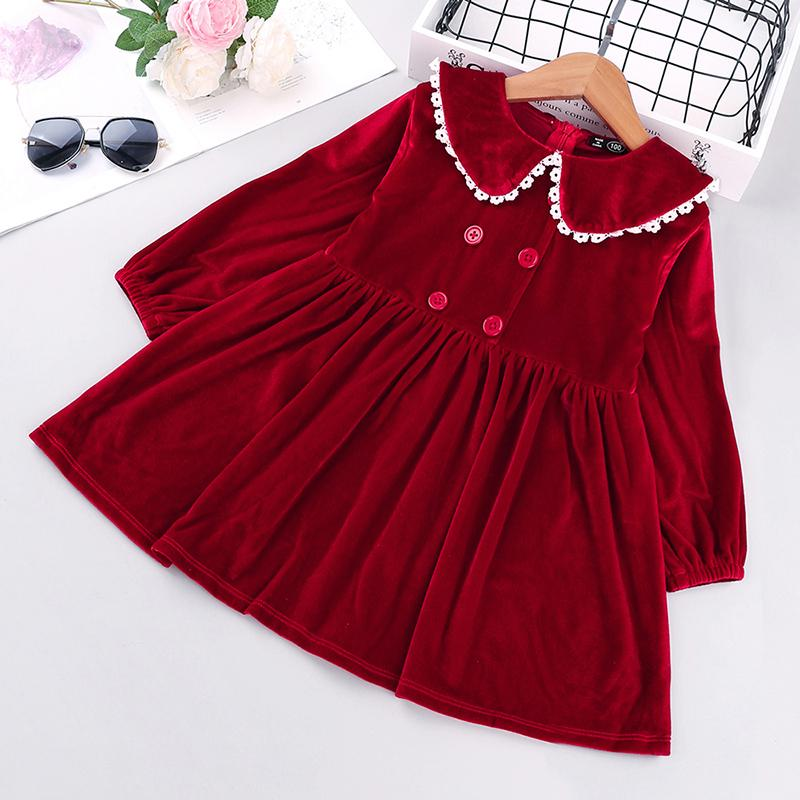 Velvet Dress for Toddler Girl