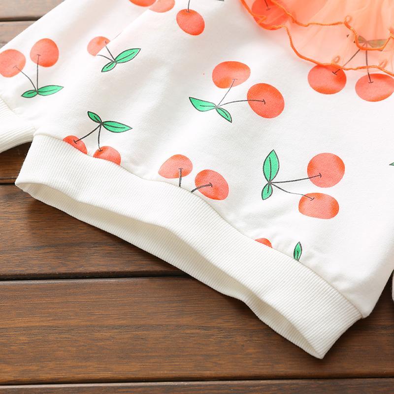 Fruit Print Sweater and Skirt Set