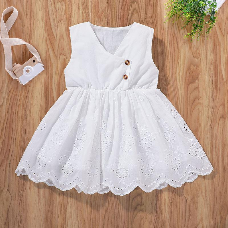 Baby Girl Summer Lace Sleeveless Knee Length Dress