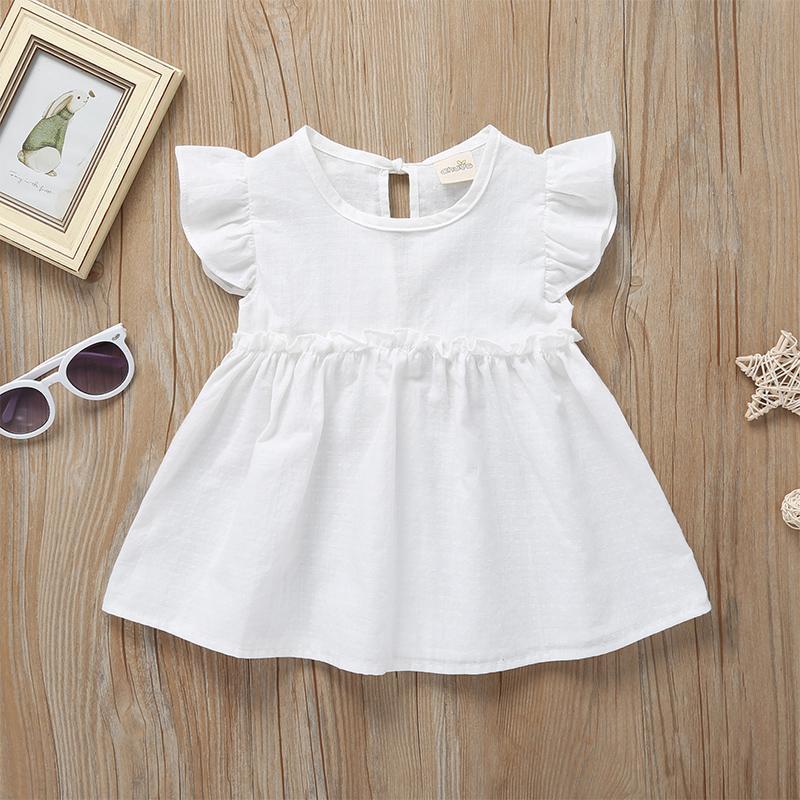 Toddler Girl Clothes Summer Sleeveless Ruffle Dress