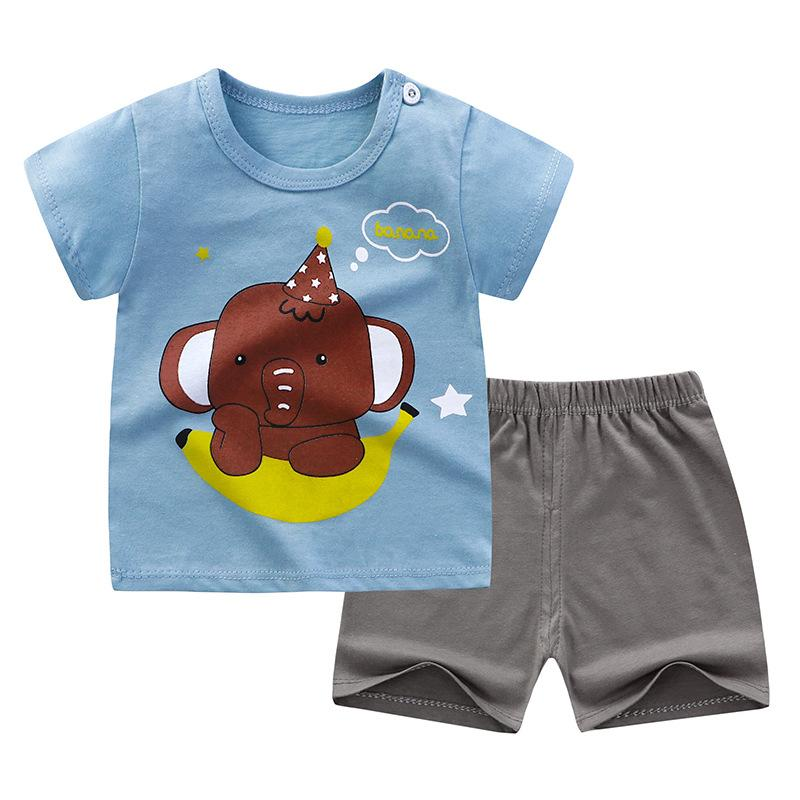 Toddler Boy Set Cartoon T-shirt & Shorts