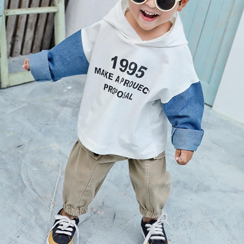 Toddler Boy Spring Fashion Letter Printing Hoodie