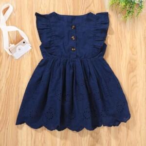 Baby Girl Summer Ruffle Sleeveless Knee Length Dress