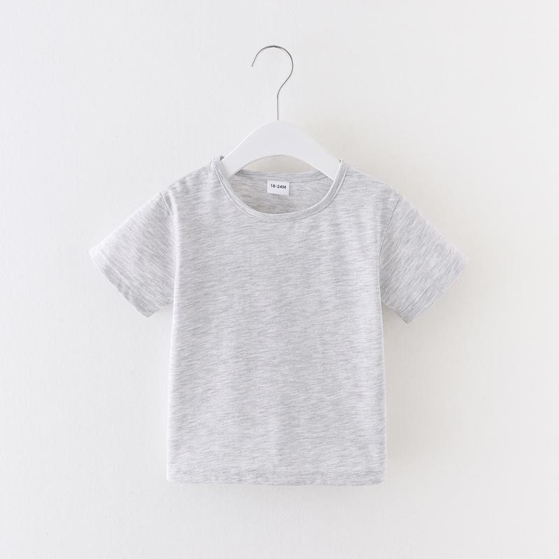 Toddler Boy Summer Solid Color T-shirt
