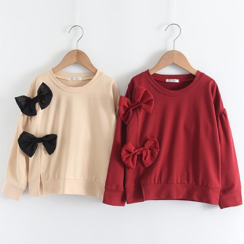 Bowknot Sweatshirt for Toddler Girl