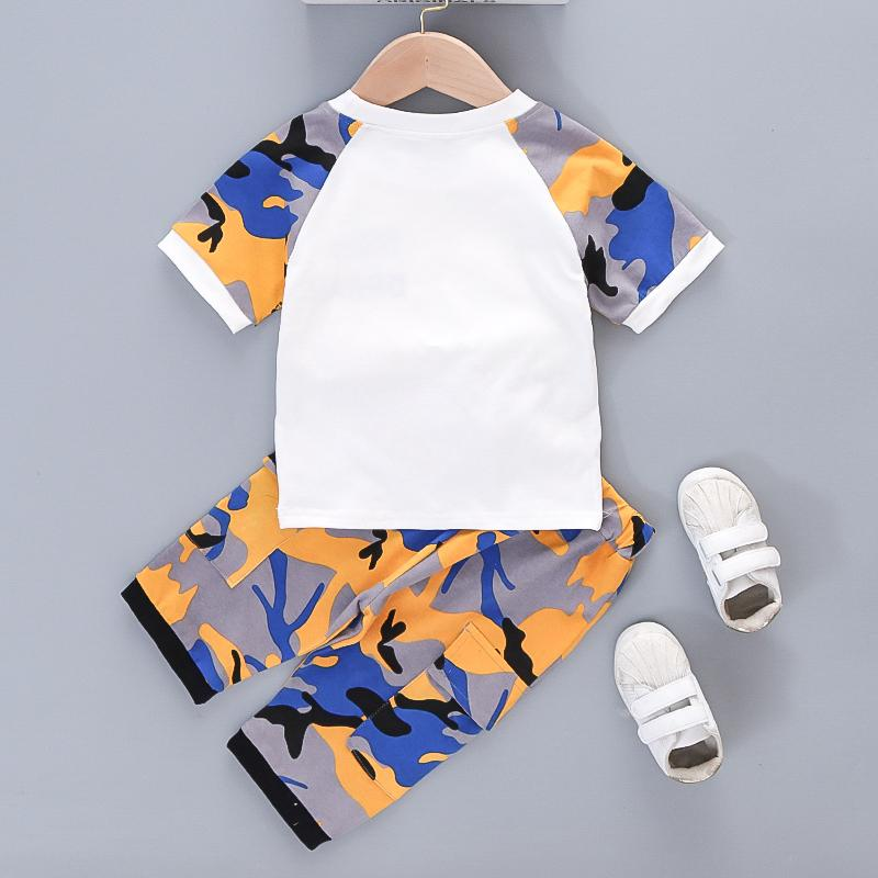 Toddler Boy Set 2pcs Camouflage Printing T-shirt & Capri pants