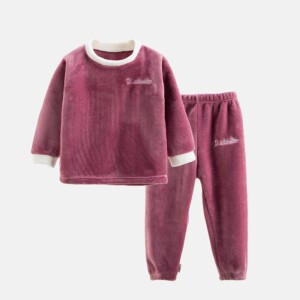 2-piece Fleece Casual Suit for Toddler Girl