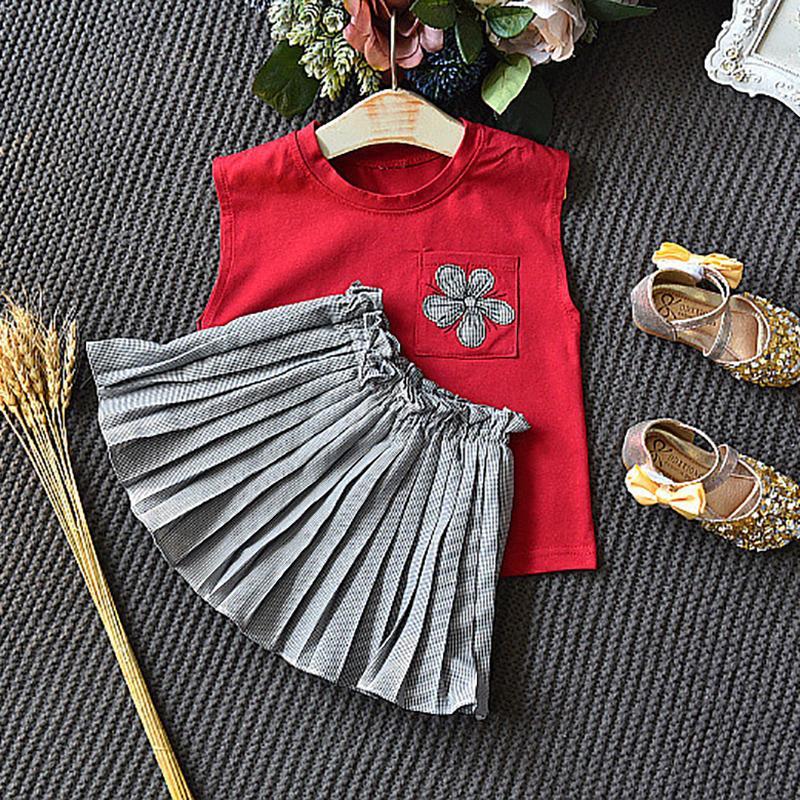 2-piece Plaid Dress Set for Toddler Girl
