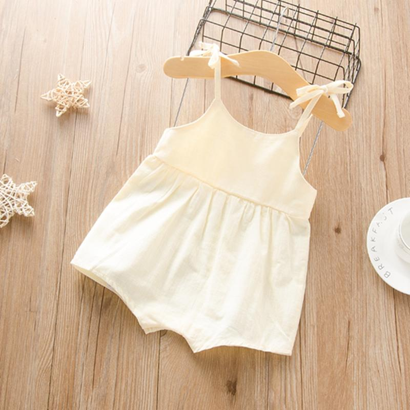 Sling Solid Bodysuit for Baby Girl