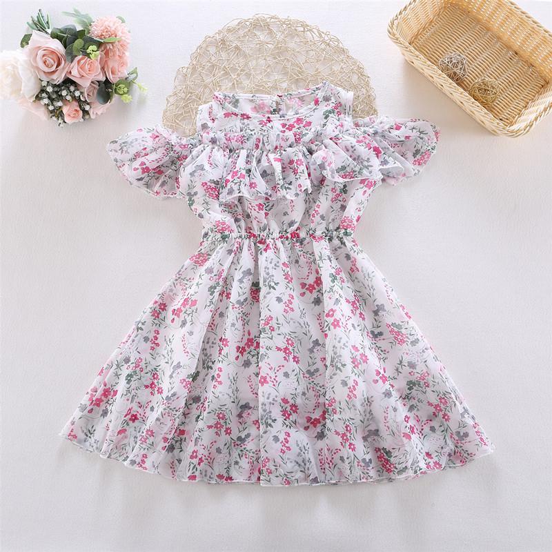 Toddler Girl Sweet Floral Chiffon Dress