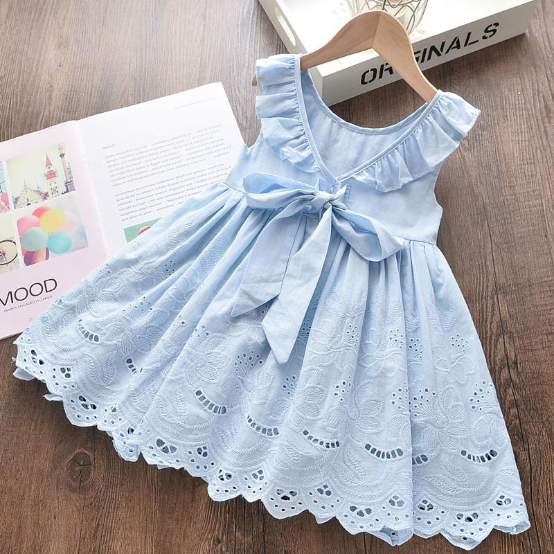 Bowknot Ruffle Dress for Toddler Girl