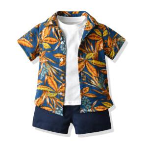 3 pieces Summer T-shirt Children's Suit for Toddler Boys