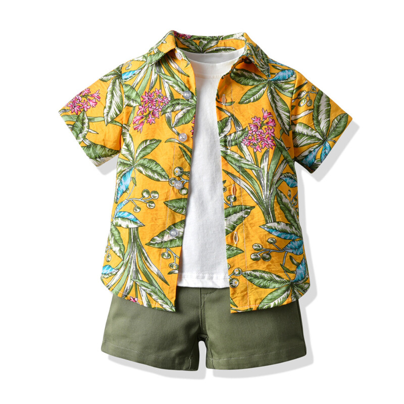 3 pieces Summer T-shirt Children's Suit for Toddler Boys
