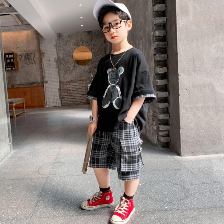 Kid Boys Summer Suit New Style Bear