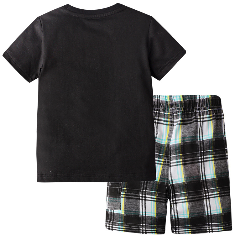 Summer Boy Short-Sleeved T-shirt Robot Suit Two-Piece