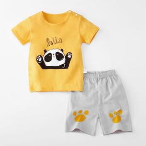Baby Toddler Short Sleeve Set Shorts Cotton Cartoon Panda