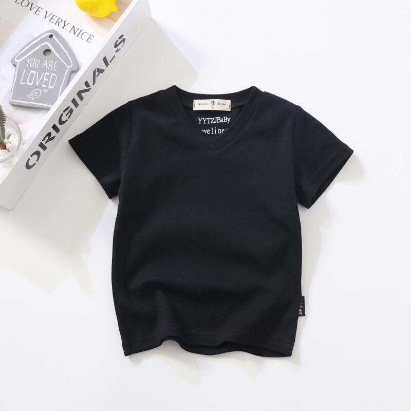 Summer New Children's V-neck T-shirt for Toddler Boy Girl